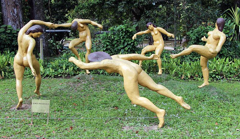 Opera ispirata alla danse di Matisse. Jardim Botânico, Rio de Janeiro.  Obra baseada em A dança, de Henri Matisse. Foto: Wikipedia