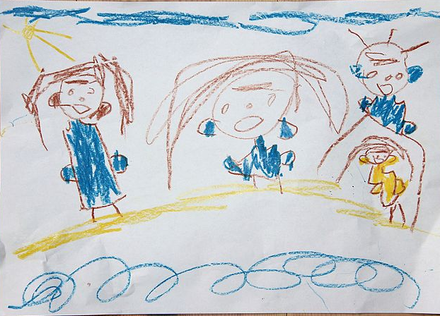Desenho de criança. Foto: ZoomViewer/Wikipedia